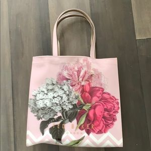 Ted baker floral plastic tote